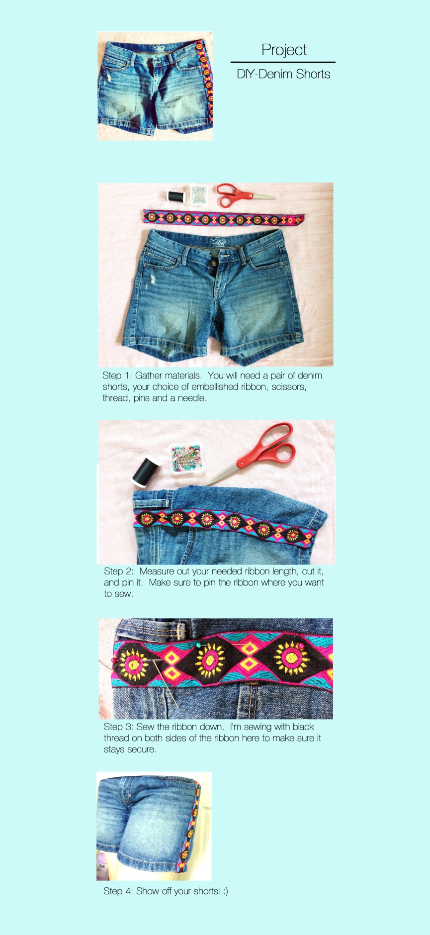 Project- DIY Denim Shorts