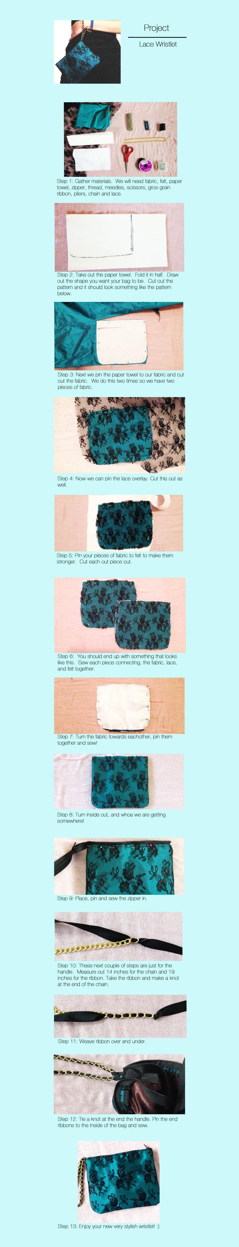 Project- Lace Wristlet