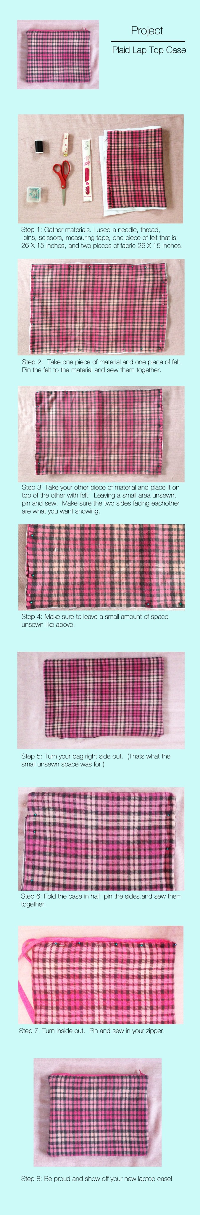 Plaid Lap Top Case