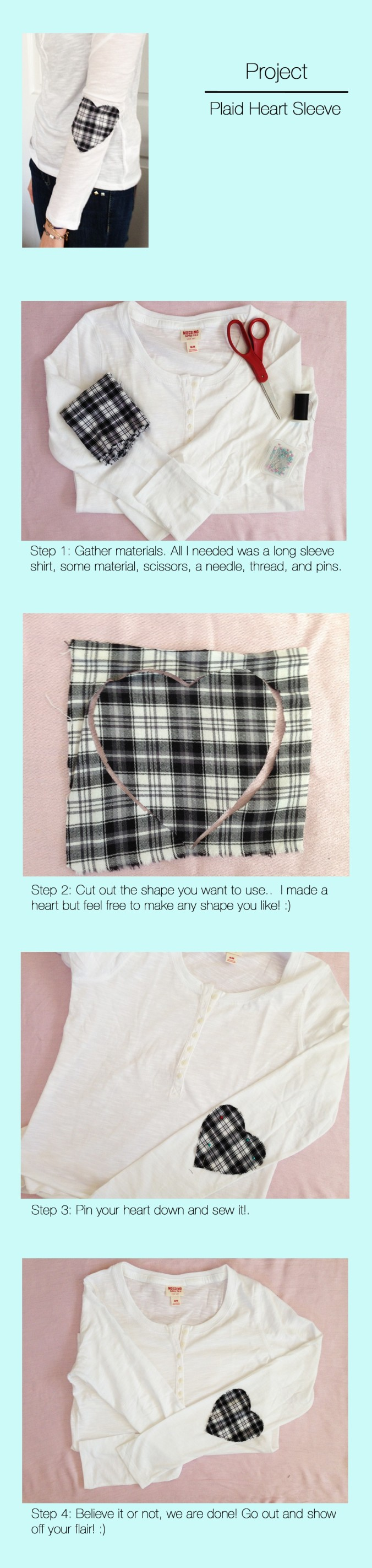 Plaid Heart Shirt