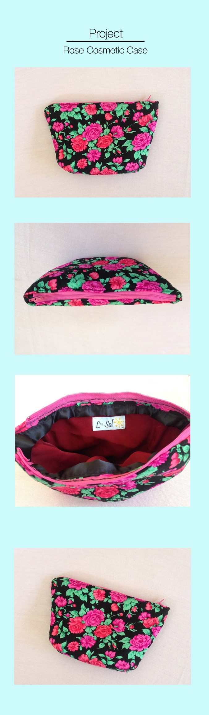 Rose Cosmetic Case