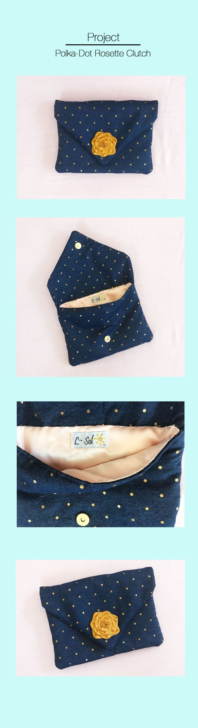 polka-dot-denim-clutch
